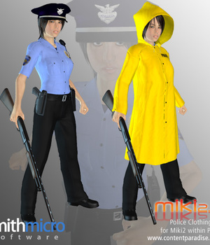 Police Clothing for Miki 2.0 Legacy Discounted Content Smith_Micro