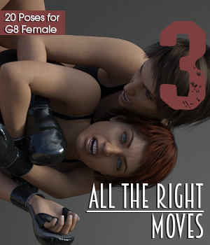 ALL THE RIGHT MOVES vol.3 for Genesis 8 Female 3D Figure Assets PainMD