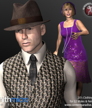 20's Clothing for G2 Figures (Time Travel Series) Legacy Discounted Content Smith_Micro