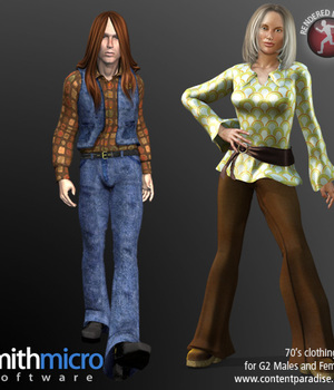70's Clothing for G2 Figures (Time Travel Series) Legacy Discounted Content Poser_Software