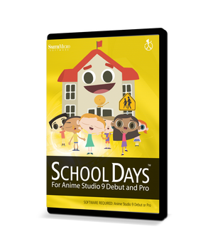 Moho School Days Content Pack 2D Graphics Poser_Software