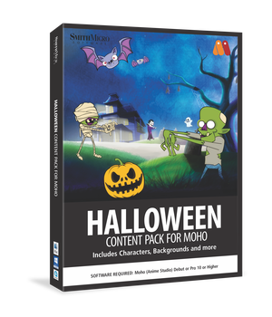 Moho Halloween Content Pack 2D Graphics Poser_Software