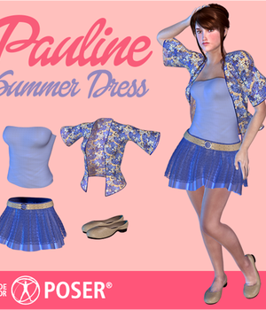 Pauline Summer Outfit Legacy Discounted Content Poser_Software