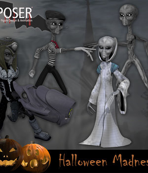 Halloween Madness for Poser Legacy Discounted Content Smith_Micro