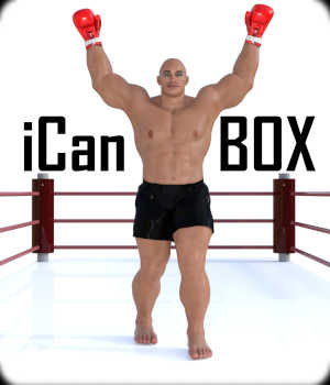 iCan BOX Poses for The Brute 8 and Genesis 8 Male in Daz Studio 3D Figure Assets Winterbrose