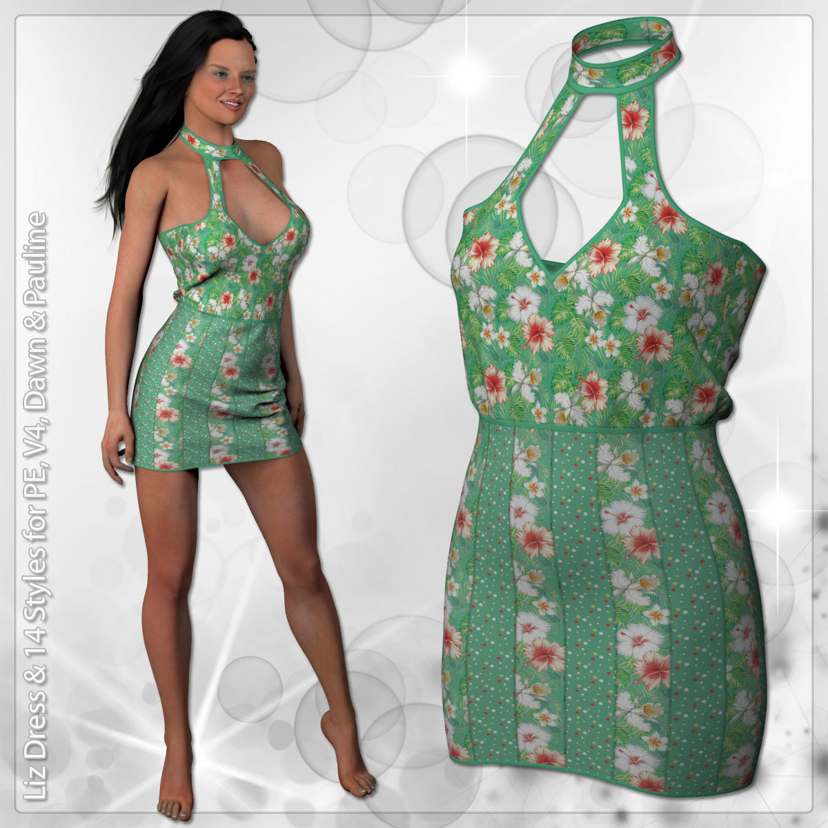 Liz Dress and 14 Styles for V4, PE, Dawn and Pauline