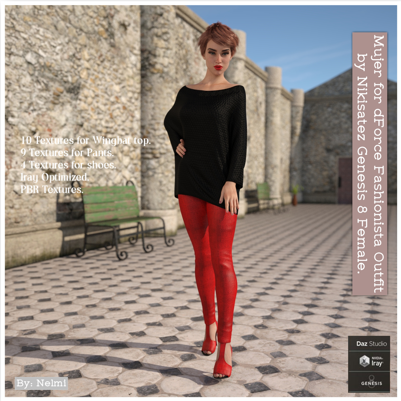 Mujer for dforce Fashionista Outfit for Genesis 8 Females
