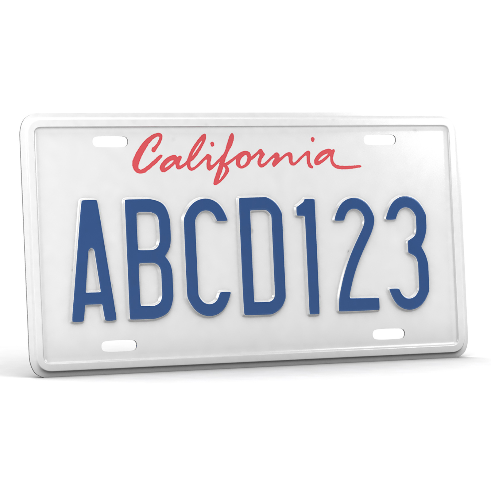 CAR LICENSE PLATE - Extended License