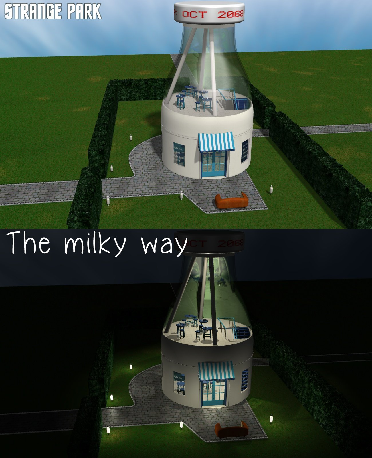 Strange Park - The milky way - Extended License