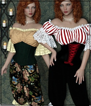 Private Moments: Victorian Mistress for G8F 3D Figure Assets 3-DArena