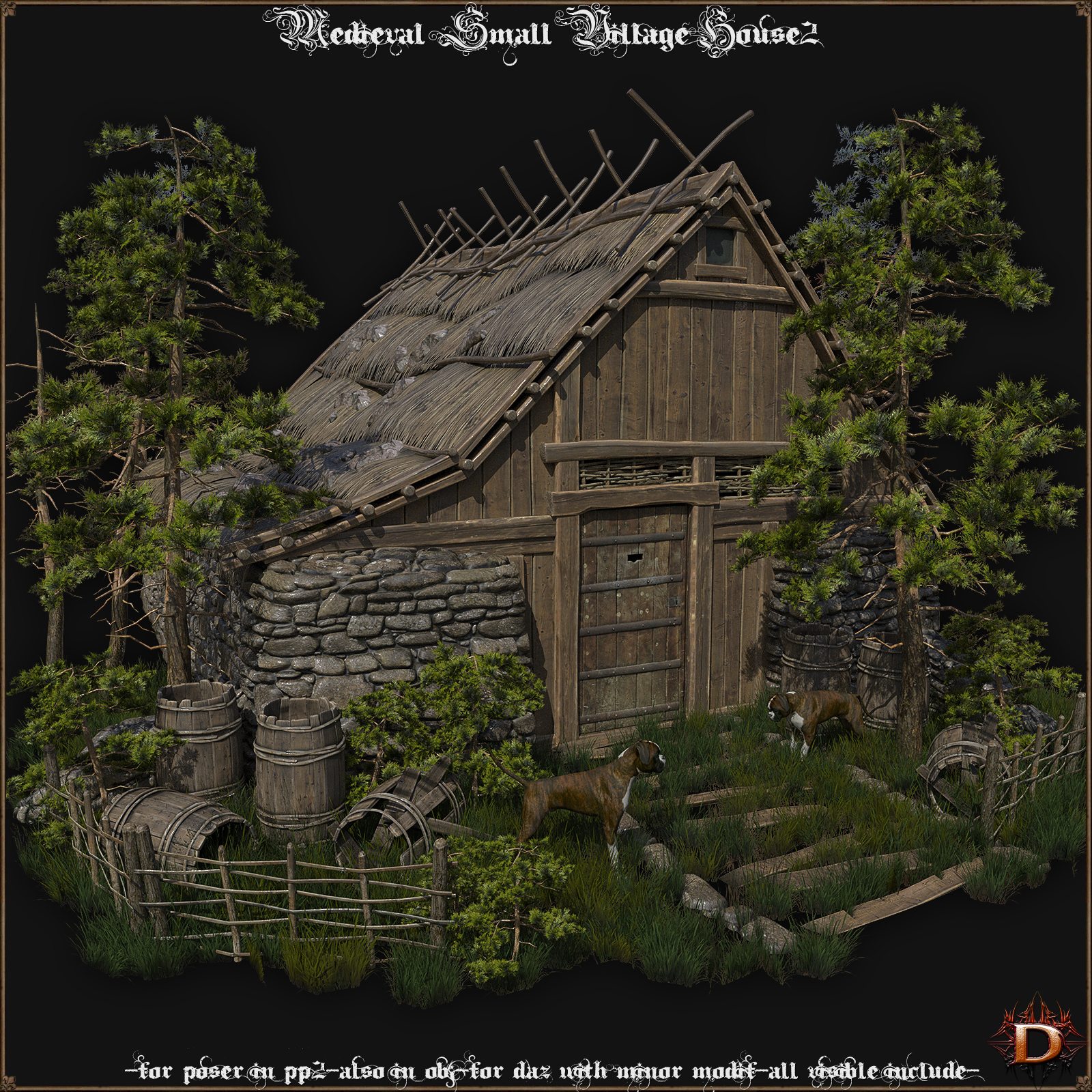 Medieval Small Village House2