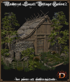 Medieval Small Village House2 3D Models Dante78