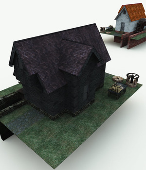 Haunted Watermill for Blender 3D Models Meshbox