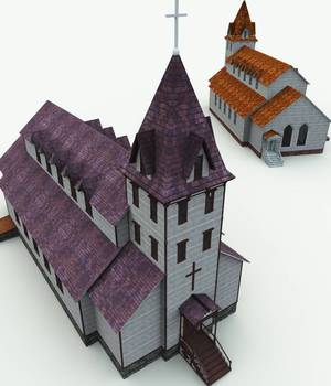 Haunted Church for Bryce 3D Models Meshbox
