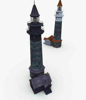 Haunted Lighthouse for Bryce 3D Models Meshbox