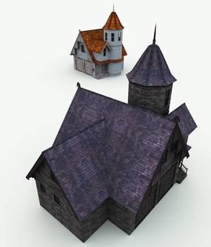 Haunted Carriage House for Bryce 3D Models Meshbox
