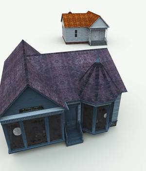 Haunted Antique Glass Shop for Bryce 3D Models Meshbox