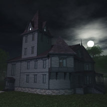 Haunted Manor House for Poser image 8