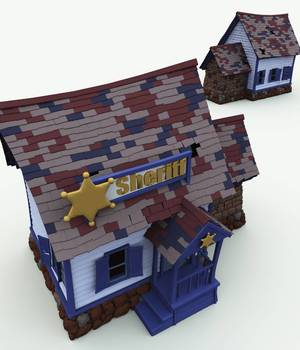 Bonehollow County Sheriff for Vue 3D Models Meshbox