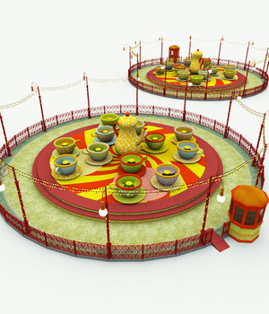 Tea Cups Ride for Poser 3D Models Meshbox