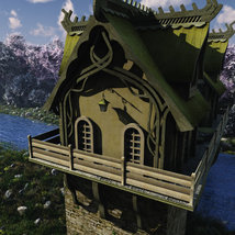 Elven Village Watermill for Poser image 2