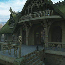 Elven Village Inn for Poser image 2