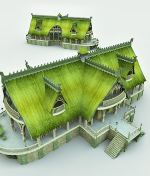 Elven Village Inn for Shade 3D Models Meshbox