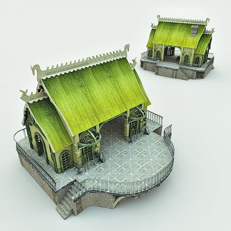 Elven Village Blacksmith for Vue