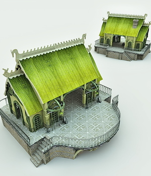 Elven Village Blacksmith for Bryce 3D Models Meshbox