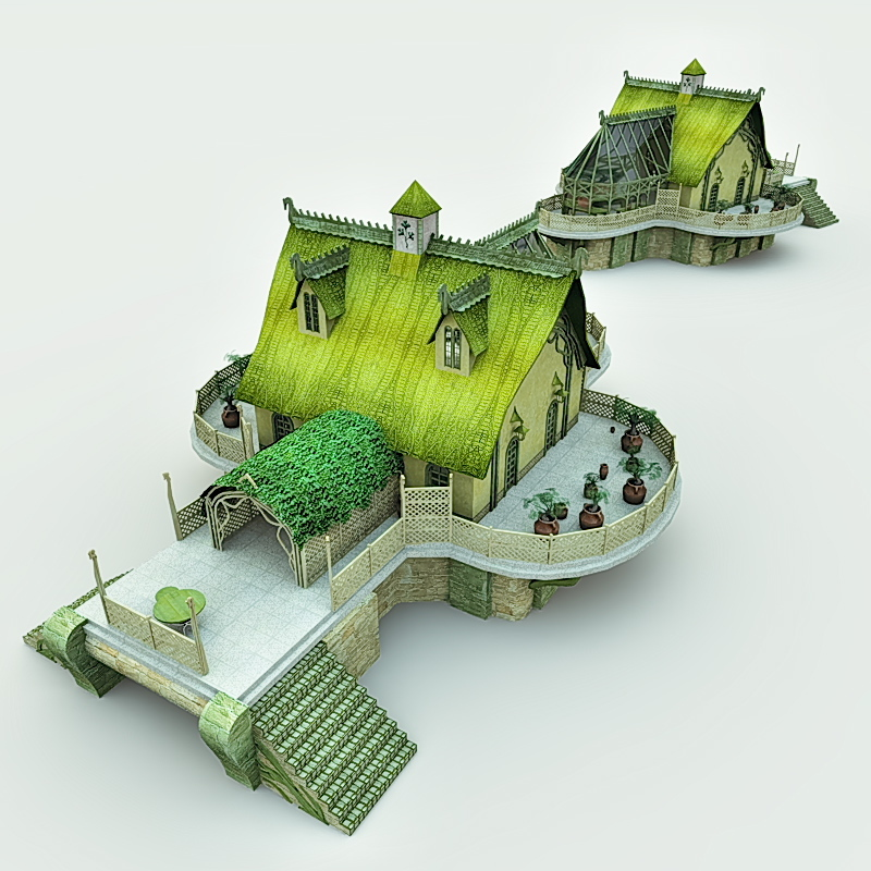 Elven Village Woodshaper for Blender