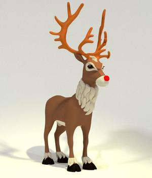 Toon Reindeer  3D Models Meshbox