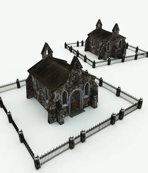 Creepy Crypt for Bryce 3D Models Meshbox