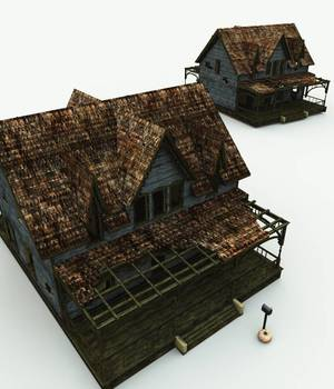 Abandoned House for Bryce 3D Models Meshbox