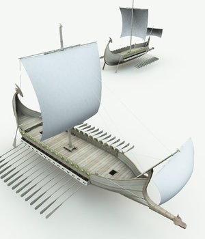 Elven War Ship  for Bryce 3D Models Meshbox