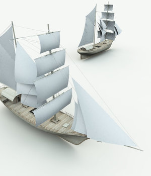 Elven Merchant Ship for Vue 3D Models Meshbox