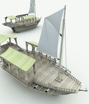 Elven Wizard Ship for Bryce 3D Models Meshbox