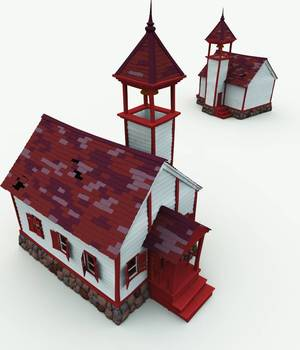 Bonehollow Haunted School House for Bryce 3D Models Meshbox