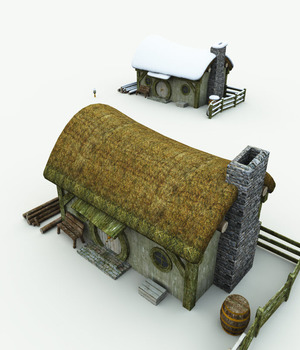 Halfling Village Woodcutter for Blender 3D Models Meshbox