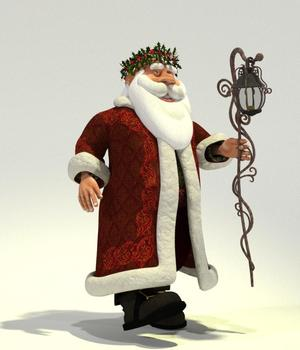 Father Christmas for Poser 3D Figure Assets 3D Models Meshbox