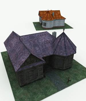 Haunted Cottage for Bryce 3D Models Meshbox