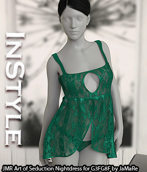 InStyle - JMR Art of Seduction Nightdress for G3FG8F 3D Figure Assets -Valkyrie-
