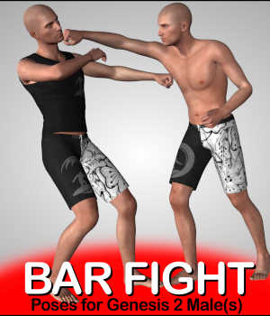 BAR FIGHT Poses for Genesis 2 Male(s) Legacy Discounted Content Winterbrose