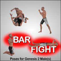 BAR FIGHT Poses for Genesis 2 Male(s) image 3