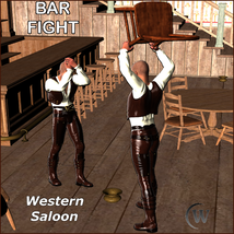 BAR FIGHT Poses for Genesis 2 Male(s) image 5