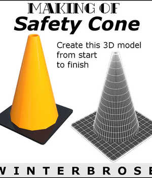 MAKING OF Safety Cone for Daz Studio 4 Legacy Discounted Content Winterbrose