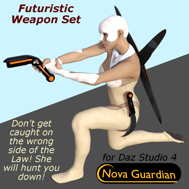 NOVA GUARDIAN Weapon Set for Daz Studio