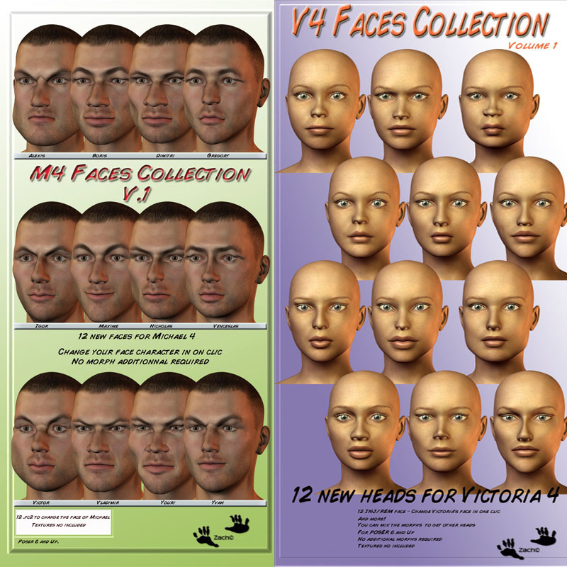 M4-V4 Faces Collection VOLUME 1