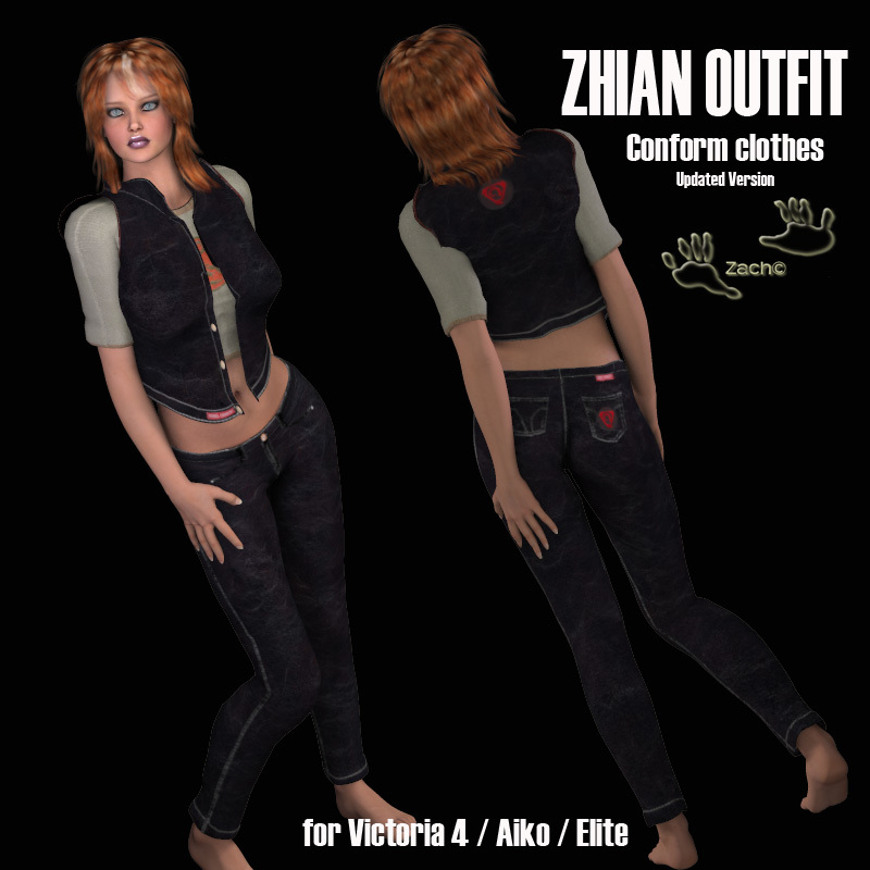 Zhian Outfit for V4 Updated Version