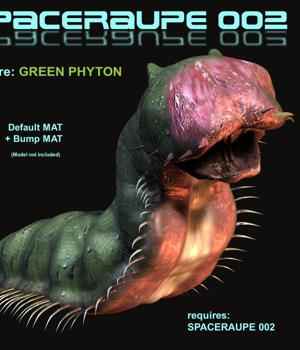 Spaceraupe 002 - Green Python 3D Figure Assets 2D Graphics CorporateArts