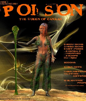 Poison for V3 3D Figure Assets 2D Graphics CorporateArts